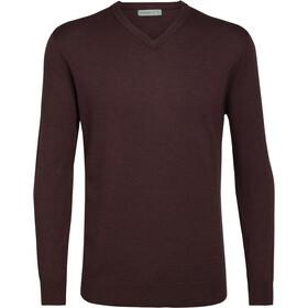Icebreaker Shearer Sweater Herrer, rød